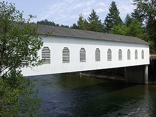 Goodpasture Bridge place in Oregon listed on National Register of Historic Places