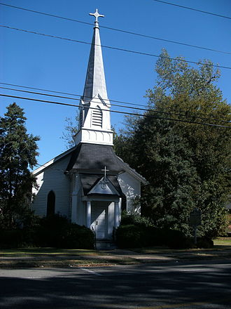 National Register of Historic Places listings in Bolivar County, Mississippi - Image: Grace Episcopal Church, Rosedale, MS