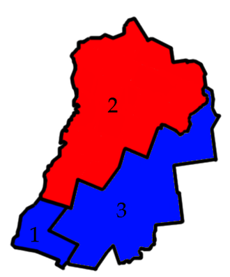 Grafton County, New Hampshire - The three districts of Grafton County's Commissioners and their party representations
