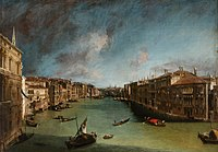 Grand Canal, Looking Northeast from Palazo Balbi toward the Rialto Bridge.jpg