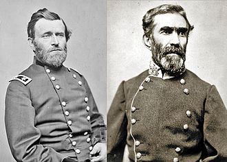 Chattanooga Campaign - Maj. Gen. Ulysses S. Grant and Gen. Braxton Bragg, commanding generals of the Chattanooga Campaign