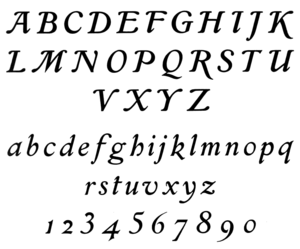 Georges Peignot - Grasset italic (1898), created by Eugène Grasset