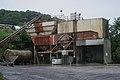 Gravel hoppers and conveyor belt, Oban, July 2020.jpg