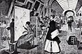 Gravura 1867 - Copisti in marea galerie de la Luvru.jpg