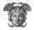 Gravure EA - tete de persee en bronze coll du prieur Gal musée academie de st anselme Aoste - p205.png