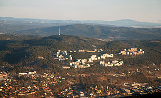 Romsås - Groruddalen with the hill of Romsås in the background
