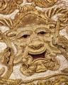 Groteskmask i guldtråd på schabrak, 1600-1650 - Skoklosters slott - 102320.tif