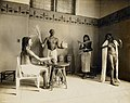 Group of life size models showing ancient Egyptian at dinner in the . Department of Anthropology's Egyptian Exhibit at the 1904 World's Fair.jpg