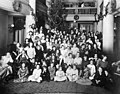 Group portrait with Christmas decorations in background, Seattle, ca 1917-ca 1920 (SEATTLE 4324).jpg