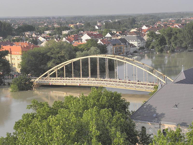 Fájl:Győr árvíz Kossuth híd.JPG