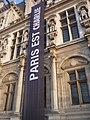 Hôtel de ville de Paris - Paris est Charlie - P1340360.JPG