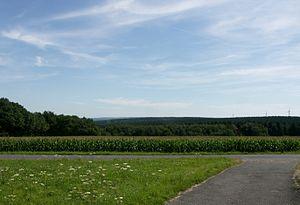 Hürtgenwald - View over the landscape, looking from northeast of Kleinhau towards Brandenberg