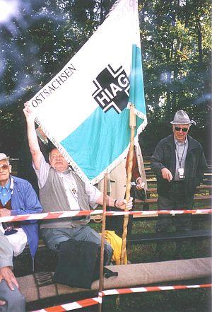 "HIAG - ""HIAG Ostsachsen"" at the Ulrichsberg meeting at Ulrichsberg mountain in 2003"
