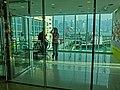 HK 尖沙咀 TST 海港城 Harbour City glass lobby interior visitors view Victoria Harbour Mar-2013.JPG