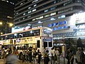 HK Cheung Sha Wan Road 長沙灣道nearby Cheung Sha Wan Plaza night Bus waiting visitors Oct-2010.JPG