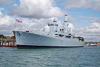 HMS Bristol alongside Whale Island-1