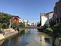 Hakatagawa River from Yumekairohashi Bridge.jpg