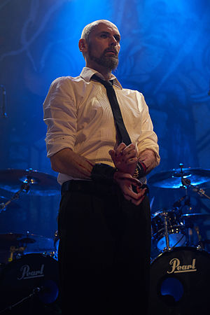 My Dying Bride - Aaron Stainthorpe perfoming with My Dying Bride in 2015