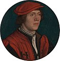 Hans Holbein the Younger - Portrait of a Man in a Red Cap (Metropolitan Museum of Art).JPG