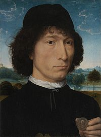 Hans Memling - Portrait of a Man with a Roman Coin - WGA14910.jpg