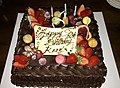 Happy 60th Birthday Krzyś chocolate cake 03.jpg