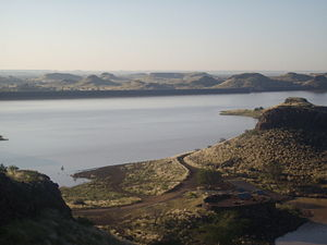 Hardap Region - Hardap Dam, outside of Mariental, at sunrise in April 2008