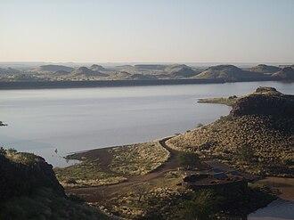 Hardap Region - Hardap Dam, outside of Mariental, at sunrise in April 2008