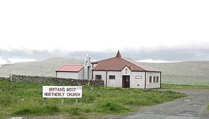 Religion in the United Kingdom - The Methodist church at Haroldswick is the most northerly church in the United Kingdom