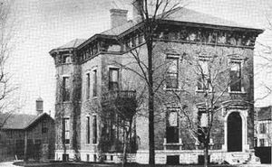 Benjamin Harrison Home - Harrison House in 1888, the year he became President