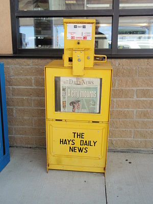 Hays Daily News - Hays Daily News vending machine in Oakley, Kansas