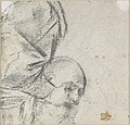 Head of a Bearded Man Looking to Upper Right (recto); Head of an Old Man and a Drapery Study (verso) MET DP809057.jpg