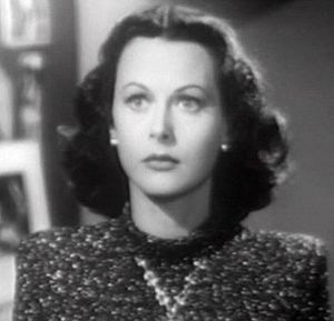 Cropped screenshot of Hedy Lamarr from the fil...