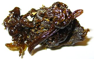 Hash oil Resinous matrix of cannabinoids derived from cannabis