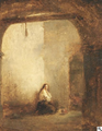 Hendrik Frans Schaefels - Young prisoner in his cell.png