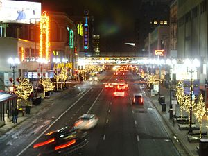 Hennepin Avenue - Hennepin at night