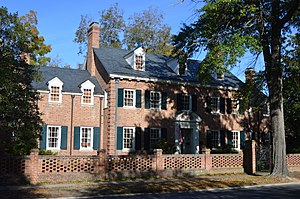 The historic E. Hervey Evans House, also known as Thomas Walton Manor, located at Laurinburg