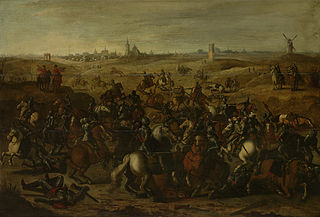 The battle between Bréauté and Leckerbeetje on the heath outside Vught, 5 Februari 1600