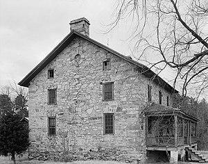 Hezekiah Alexander House - Hezekiah Alexander stone house, 1936
