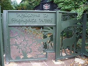 Highgate Wood - Entrance gates to Highgate Wood