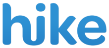 "Word ""Hike"" written in blue"