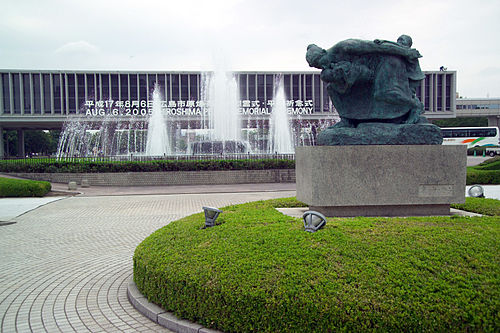 Statue of Mother and Child in the Storm & Fountain of Prayer HiroshimaStatueFountainMuseum7042.jpg