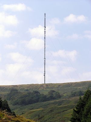 Holme Moss transmitting station - Image: Holme Moss Transmission Tower