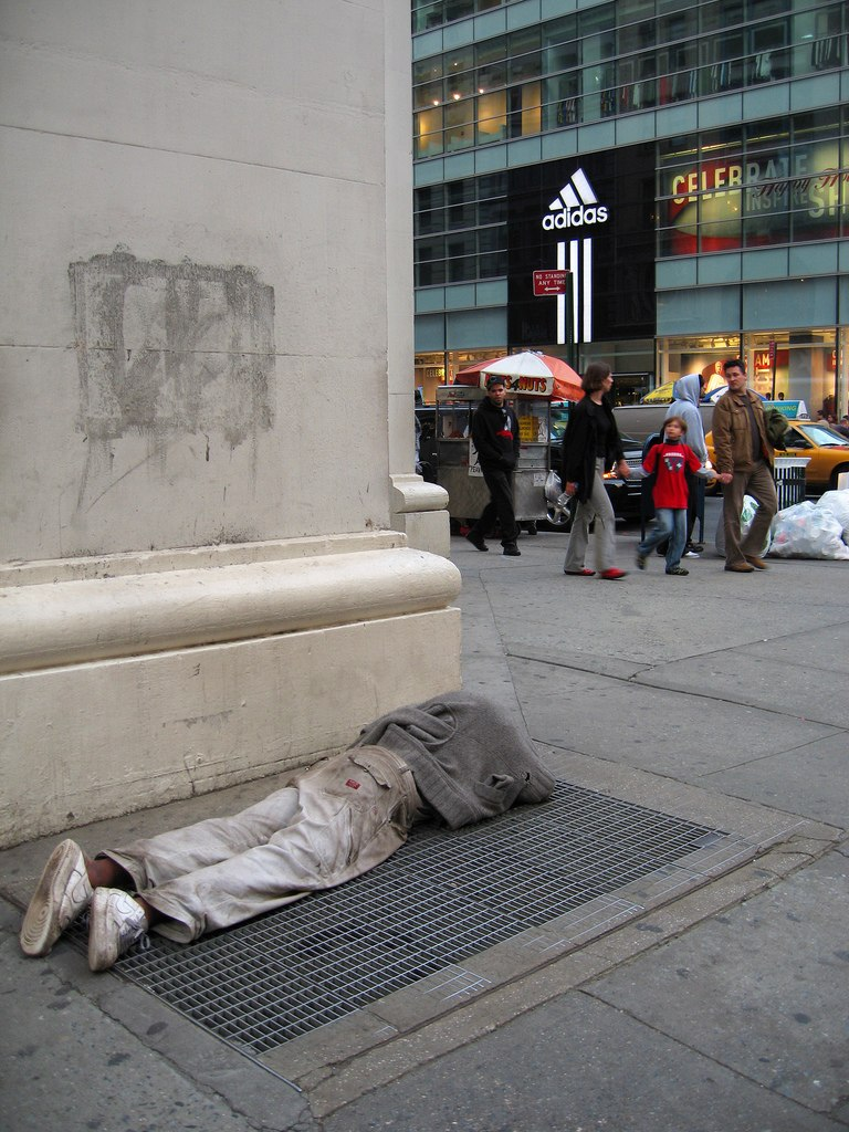 Homeless person in New York City