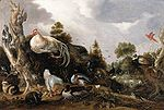 Hondecoeter, Gillis d' - Orpheus Charming the Animals - 1631.jpg