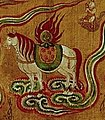 Horse with flaming jewel detail, 10th-century painting on silk from Dunhuang (cropped).jpg