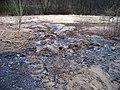 Hostivař, údolí Botiče pod zahrádkářskou osadu, stopy vodovodní havárie.jpg