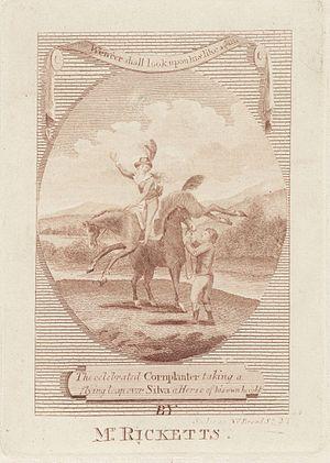 John Bill Ricketts - Rickets and his horse Cornplanter performing