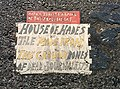 House of Hades Toynbee tile at Bond and Bowery in New York City December 2013.jpg