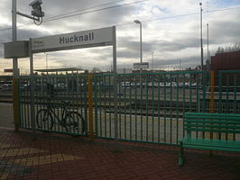 Hucknall Station and an Alternative Mode of Transport - geograph.org.uk - 677687.jpg