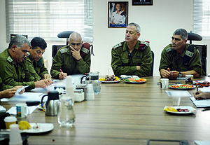 Benny Gantz - Benny Gantz visits Southern Command on August 19, 2011, following the 2011 southern Israel cross-border attacks